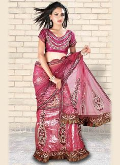 Sarees Online: Shop the latest Indian Sarees at the best price online shopping. From classic to contemporary, daily wear to party wear saree, Cbazaar has saree for every occasion. Latest Indian Saree, Indian Sarees Online, Buy Sarees Online, Lehenga Style Saree, Pink Lehenga, Long Petticoat, Indian Accessories, Party Wear Sarees, Long Blouse