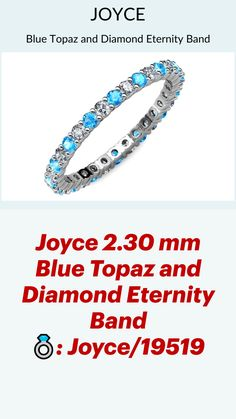 Eternity Bands, Stacking Rings, White Gold Rings, Blue Topaz, Diamond Rings, Wedding Bands, Gemstones, White Gold Wedding Rings, Gems