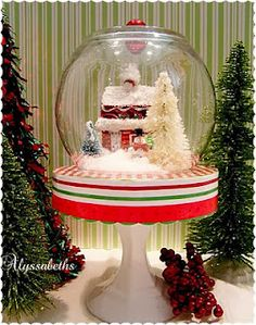 Christmas Cloche - Dollar Store Crafting