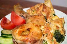 Jak upéct kuře se zdravou jarní nádivkou. Zucchini, Sushi, Japanese, Meat, Chicken, Vegetables, Ethnic Recipes, Beef, Japanese Language