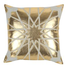 Love this metallic gold pillow - so chic!