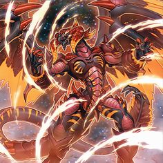 Tyrant Red Dragon Archfiend by 1157981433 on DeviantArt Yugioh Dragon Cards, Yugioh Dragons, Mythical Creatures Art, Fantasy Creatures, Fantasy Dragon, Fantasy Art, Yu Gi Oh 5d's, Yugioh Monsters, Fantasy Beasts