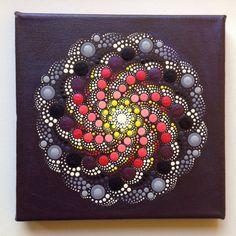 Original Dotart Purple Rain Mandala Painting by CreateAndCherish