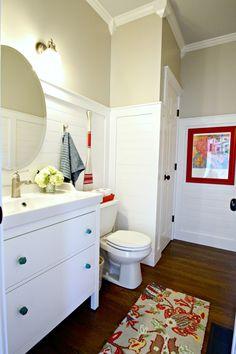 Planked walls bathroom