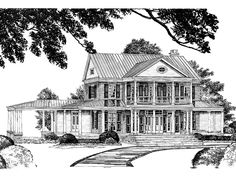 Double-Gallery House - William H. Phillips | Southern Living House ...