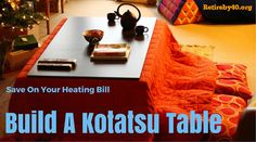 Save on your heating bill - Build a Japaneese Kotatsu table Guest Bedroom Home Office, Wood Crafts, Diy Crafts, Basement Inspiration, Diy Table, Stay Warm, Home Buying, Cool Furniture, Home Improvement