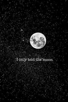 I only told the moon