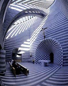 Church of San Giovanni Battista in Mogno by Mario Botta. #design #architecture #pinspiration