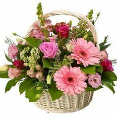 Valentine Flower Arrangements, Basket Flower Arrangements, Floral Arrangements, Very Beautiful Flowers, Deco Floral, Japanese Flowers, Container Flowers, Flower Boxes, Floral Bouquets