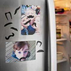 Усы-магнит на холодильник.