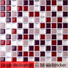 Alta calidad sticky mosaicos de cristal backsplash baldosas al por mayor
