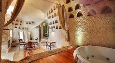 """お城のような洞窟ホテル!トルコ カッパドキアの奇岩を改装した""""アナトリアン・ハウス""""   by.S"""