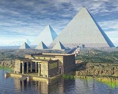 """The Great Pyramids were originally bright white When the pyramids were originally finished, they were plated in and outer layer of white """"casing stones"""". These casing stones were cut with astounding precision to give a smooth slope to the pyramids, unlike how they appear today with the outer stones more or less forming very large """"steps"""". The original casing stones were made of highly polished Tura limestone, meant to reflect the sun's rays, and were accurate within 1/100th of an inch."""