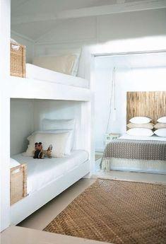 Home Decor – Bedrooms :     ~ white + rattan    -Read More –