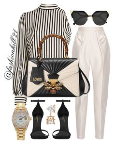 Untitled #1408 by fashionkill21 on Polyvore featuring polyvore fashion style MSGM Delpozo Yves Saint Laurent Gucci Rolex Allurez Fendi clothing