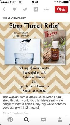 Home Remedy for Strep Throat: Young Living Essential Oils Uses for Strep Throat