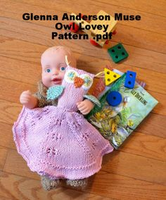 Owl BabyToddler Lovey Blanket Toy by GlennaAndersonMuse on Etsy