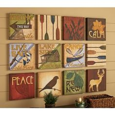 I could see these canvases fixed with photos or sayings that I like.  ModPodge project!!