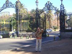 Entrada al Parque donde se encuentra el Cerro La Gloria, Mendoza. 2.009.