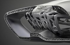 The EDAG Genesis concept. Inspired by the turtle, its a sandwhich structured shell construction produced using additive manufacturing. Edag Genesis Additive manufacturing (GE)