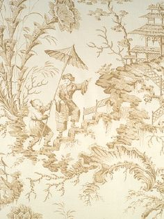 WALLPAPER SCALAMANDRE DecoratorsBest - Detail1 - Scala WP81561-006 - Pillement Toile - Beige - Wallpaper - DecoratorsBest