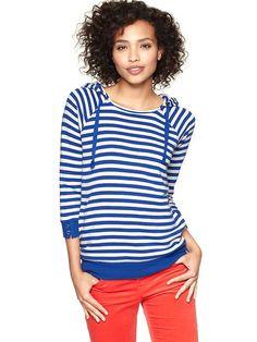 Gap | Striped terry hoodie