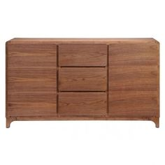 Zuo Modern Rubberwood Modern Walnut Coral Way Buffet 199056