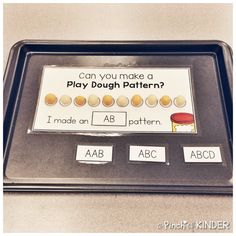 Teaching Patterning in FDK - Part 2 - A Pinch of Kinder Patterning Kindergarten, Kindergarten Math, Numeracy Activities, Math Patterns, Math Class, Maths, Early Math, Math For Kids, Literacy Centers