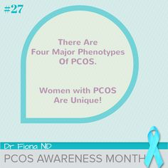 Day #27 of PCOS Awareness Month.   There are 4 major phenotypes of PCOS.