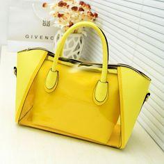 Shell bag women messenger bags new 2014 spring transparent jelly neon smiley shoulder bag crystal women bag