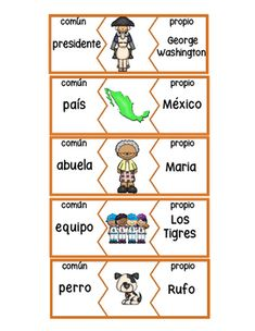 Sustantivos Comunes y Propios Common And Proper Nouns, Sorting Activities, Dual Language, Grade 1, Kids Learning, Worksheets, Literacy, Spanish, Education