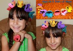 Mom to 2 Posh Lil Divas: Kid Craft: Egg Carton Floral Fairy Hair Wreath Fairy Crafts, Vbs Crafts, Camping Crafts, Arts And Crafts Projects, Easter Crafts, Projects For Kids, Crafts For Kids, Recycled Costumes, Recycled Crafts