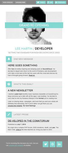 Lee Martin Newsletter