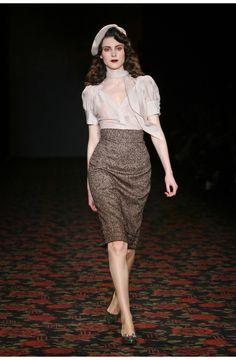 Pastis Skirt Tweed Wine - Lena Hoschek Online Shop