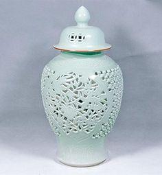 Celadon Carving Temple Jar via Belle and June Home Decor Accessories, Decorative Accessories, Online Home Decor Stores, Kids Decor, Home Accents, Accent Decor, Carving, Pottery, Temple