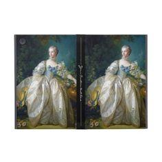 FRANCOIS BOUCHER - MADAME BERGERET portrait art iPad Mini Covers #francois #Boucher #madame #bergeret #painting #rokoko #gift #accessory #decoration #lady #art #Paris #France