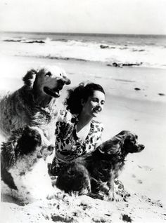 Elizabeth Taylor & dog chums