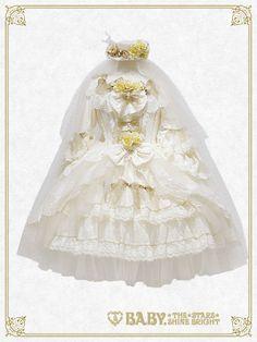 Baby, the stars shine bright Le poupée mariée rêveuse dress set