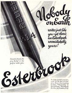 Esterbrook Fountain Pen vintage ad.