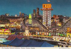 Photo Of The Day: Welcome To The Canadian National Exhibition Toronto Circa 1969 Niagara Falls Boat, Canada Travel, Canada Trip, Canada Eh, World Cities, Night City, Toronto Canada, Historical Photos, Seattle Skyline