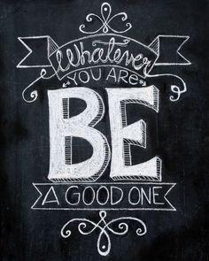 Chalkboard Art print quote Hand drawn by TheBlackandWhiteShop