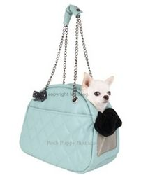 My First Louis Dog Carrier- Tiffany Blue- Shop By Designer - Louis Dog Collection - Carrier Posh Puppy Boutique