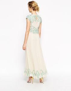 Image 2 ofFrock and Frill Maxi Dress With Baroque Embellishment
