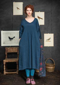 "Robe ""Shadow"" en coton/viscose–Jupes & robes–GUDRUN SJÖDÉN – Kläder Online & Postorder"