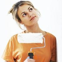 A roller is easier to use than a paint sprayer for applying texture to the wall.