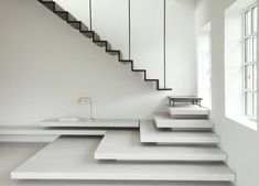 The humble staircase can do far more than provide access to your second floor. Stairs can fulfil multiple purposes from storage and thermal regulation to design feature or just sheer fun. Stair Handrail, Staircase Railings, Staircase Design, Stairways, Stair Design, Staircase Ideas, Spiral Staircases, Oak Stairs, House Stairs