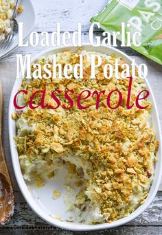 Get ready to take your mashed potatoes to the next level with this Loaded Garlic Mashed Potato Casserole! I love mashed potatoes, and this year I've really kicked my mashed potatoes up a notch by a...