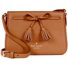 KATE SPADE NEW YORK Hayes Street Eniko Leather Cross-body Bag (682.895 COP) ❤ liked on Polyvore featuring bags, handbags, shoulder bags, purses, bolsas, accessories, handbags crossbody, kate spade crossbody, leather crossbody and purses crossbody