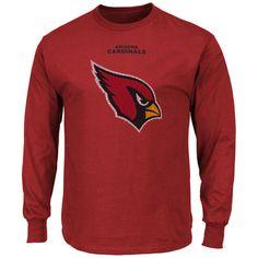 best website a7237 76a32 Men s Arizona Cardinals Majestic Cardinal Critical Victory Long Sleeve T- Shirt