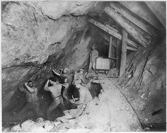 Title: Men at work inside a mine. Idaho Springs, Co. Creator(s): Noyes, S. A., photographer Date Created/Published: [between ca. 1910 and ca. 1920]